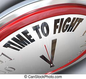 derechos, reloj, resistencia, lucha, pelea, tiempo