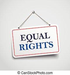 derechos, señal, ahorcadura, igual