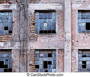 Derelict Building - Picture shows a section of an old and ...