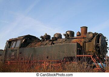 derelitto, treno