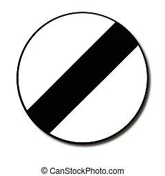 Derestriction Traffic Sign