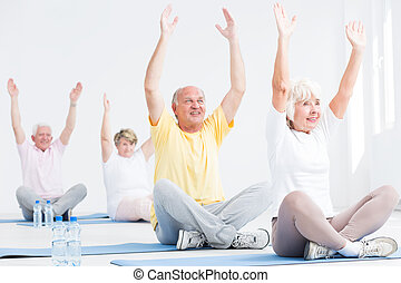 Deriving pleasure from fitness for seniors classes - Senior...