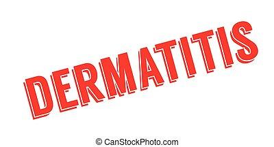 Dermatitis rubber stamp. Grunge design with dust scratches. ...