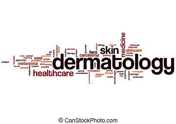 dermatologia, palavra, nuvem