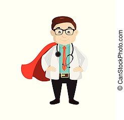 Dermatologist Doctor - In Super Hero Costume
