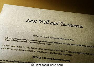 dernières volontés