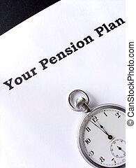 dernier, pension, minute
