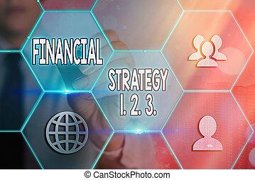 dernier, projection, conceptuel, context, showcasing, 2., grilles, écriture, stratégie, technologie, différent, 1, business, 3.., financier, main, perspicacités, numérique, construire, concept., icônes, photo