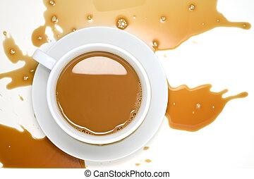 derramado, café