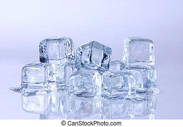 derretendo, cubos gelo