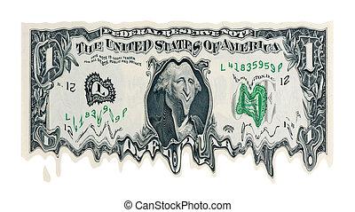 derretendo, dólar