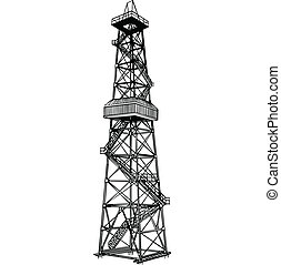 Derrick rig - Rig for exploration and drilling wells for oil...
