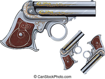 Derringer revolver - last chance Weapon, pocket Derringer...