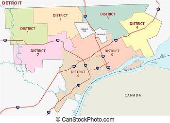 dertroit district map