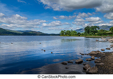Derwent Water in the Lake District UK