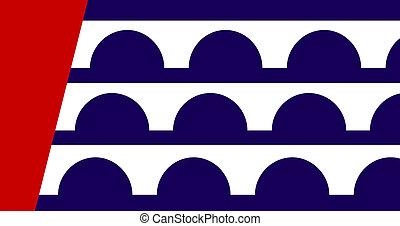 des, ciudad, moines, bandera