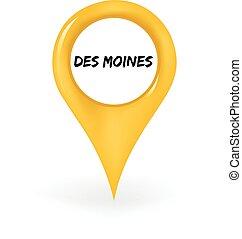 des moines, ubicación