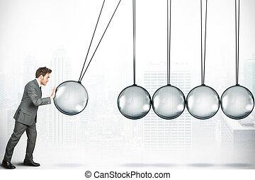 desafío, concepto, empresa / negocio