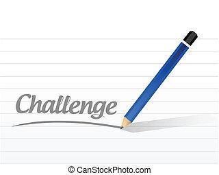 desafío, mensaje, ilustración, diseño