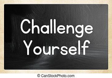 desafío, usted mismo