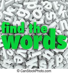 desafío, wordsearch, hallazgo, juego, palabras, rompecabezas