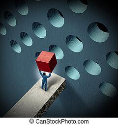 desafíos, dirección, empresa / negocio