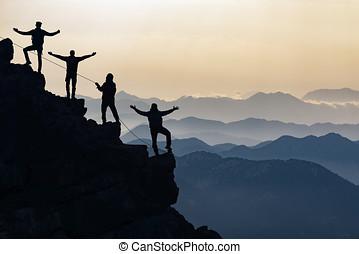 desafíos, excepcional, luchar, equipo