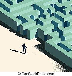 desafio, negócio, à frente
