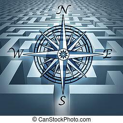 desafios, através, navegar