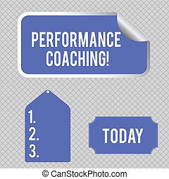 desarrollo, adhesivo, actuación, color del negocio, coaching., pegatina, perforanalysisce, showcasing, escritura, acción, planificación, mano, otro, foto, conceptual, esquina, tag., etiqueta, frontera, sí mismo