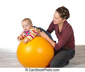 desarrollo, bebé, retrasado, motor, actividad