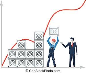 desarrollo, concepto, crecimiento, empresa / negocio