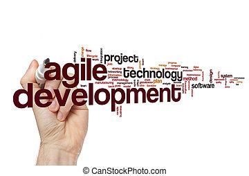 desarrollo, concepto, palabra, nube