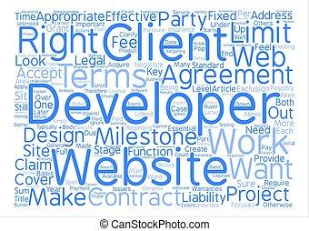 desarrollo, considerations, concepto, palabra, llave, tela, ...
