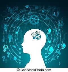 desarrollo, educación, concepto, science.