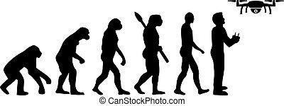 desarrollo, evolución, zángano, icono, piloto
