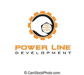 desarrollo, línea, potencia