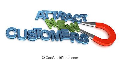 desarrollo, nuevo, atraer, empresa / negocio, clientes