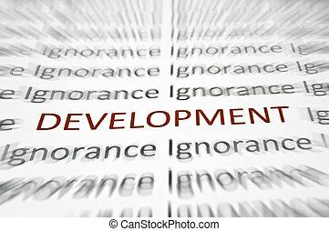 desarrollo, palabra