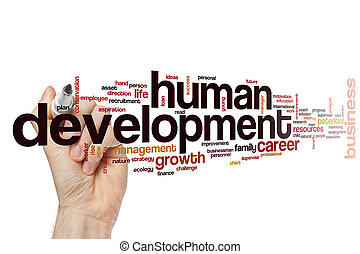 desarrollo, palabra, humano, nube