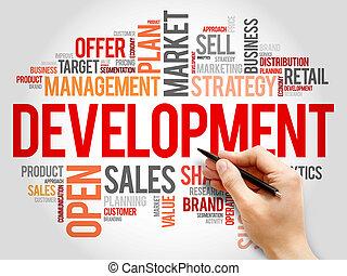 desarrollo, palabra, nube