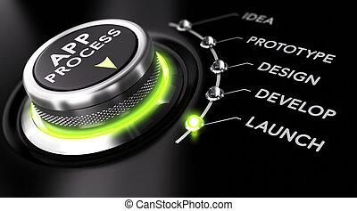 desarrollo, proceso, app