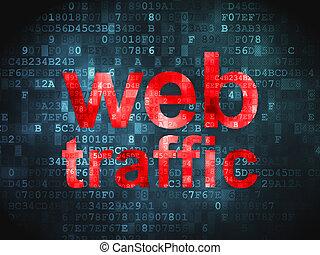 desarrollo, tela, tráfico, plano de fondo, digital, seo, ...