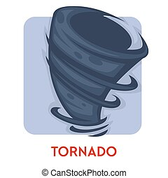 desastre natural, tornado, aislado, aire, girar, columna, ...