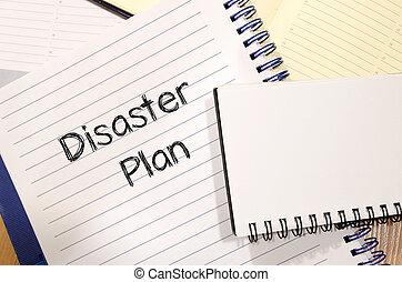 desastre, plano, texto, conceito