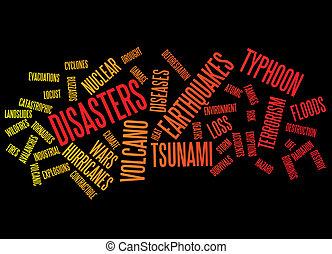 desastres, plano de fondo