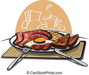 desayuno, inglés