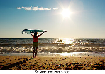 descansar, a, praia