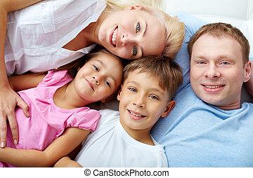 descansar, família