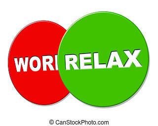 descansar, recreação, relaxe, descanso, sinal, indica